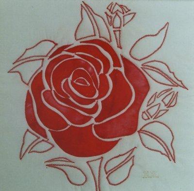 Rose am Abend (Vollbild)